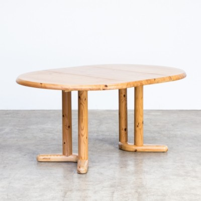 Rainer Daumiller pine wood dining table for Hirsthals Savvaerk
