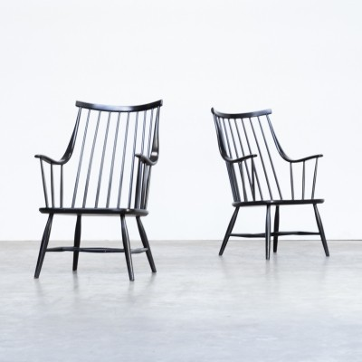 Pair of Swedish armchairs by Lena Larsson for Nesto, 1960s