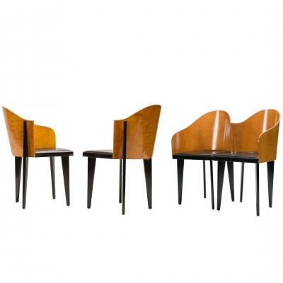 Set of 4 'toscana' chairs by Piero Sartogo for Saporiti, 1986
