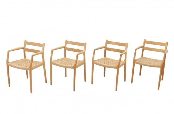 Set of Four Oak Niels Otto Moller No. 67 Chairs