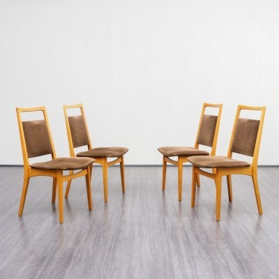 Set of four 1960s dining chairs in cherrywood