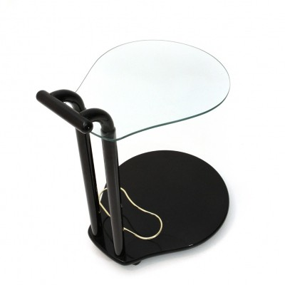 Black lacquered Italian cart, 1980s