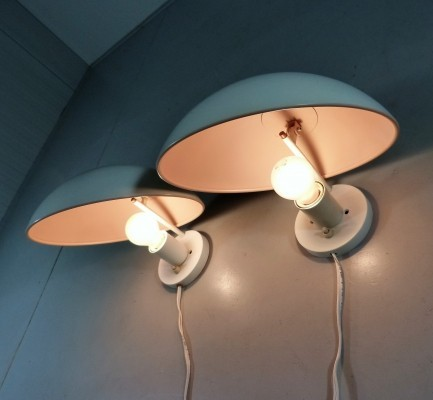 Early Edition PH Hat Wall lights by Poul Henningsen for Louis Poulsen, 1960's