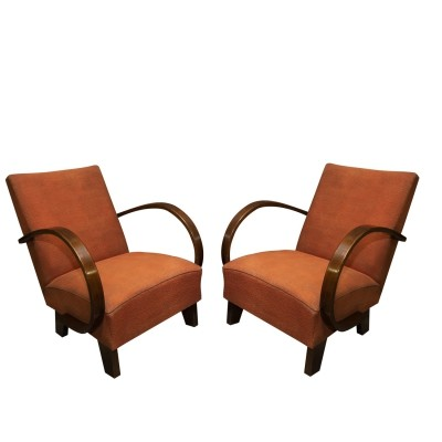 Pair of Thonet Mundus arm chairs, 1930s