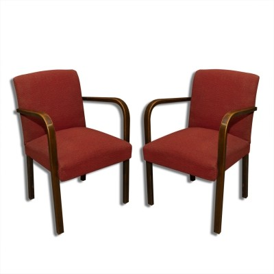 Pair of Thonet arm chairs, 1930s
