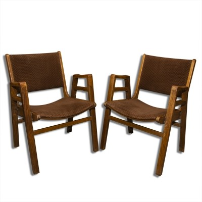 Pair of mid century armchairs by František Jirák, 1960s