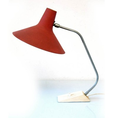 Fifties vintage metal red retro desk lamp