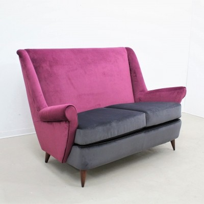 Surprising Italian Midcentury Velvet Sofa Set By Isa Bergamo 1950S Uwap Interior Chair Design Uwaporg