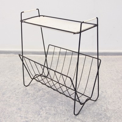 Mid century modernist Dutch Design magazine rack / side table