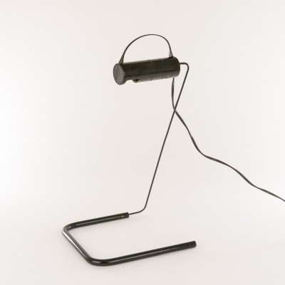 Black Slalom table lamp by Vico Magistretti for O-Luce, 1980s