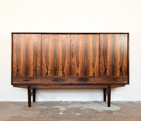 Danish highboard in rosewood, 1960s