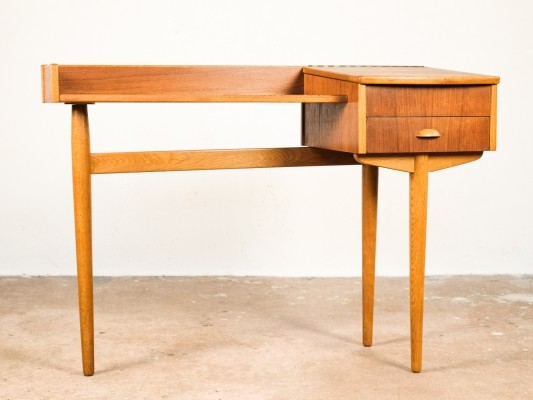 Console table in teak & oak, Denmark 1960s