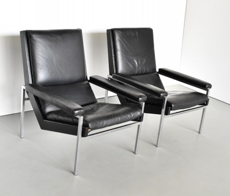Pair of Lotus lounge chairs by Rob Parry for Gelderland, 1970s