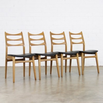 Set of 4 Bähre Mignon Möbel dining chairs, 1960s