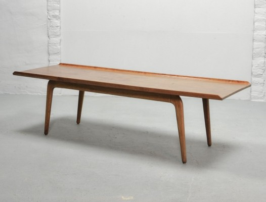 Solid XL Teak Coffee Table by Aksel Bender Madsen for Bovenkamp, Holland 1960s
