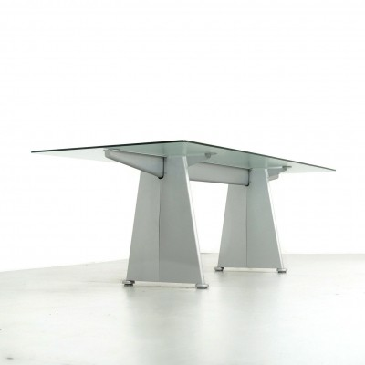 Jean Prouvé Trapèze Dining Table by Tecta, 1980s