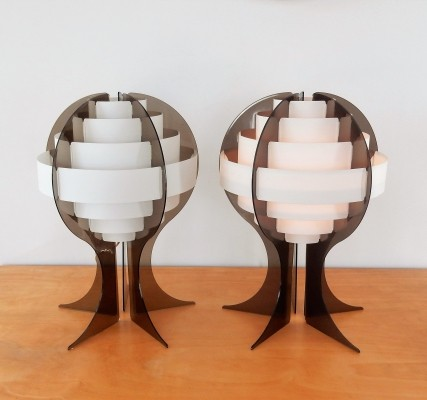 Strips table lamp by Preben Jacobsen & Flemming Brylle for Quality System, DK