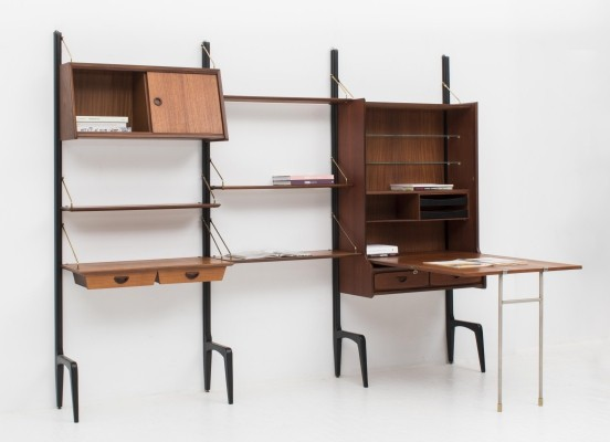 3-piece wall unit by Louis van Teeffelen for Wébé, 1950