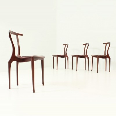 Set of Four Gaulino Chairs by Oscar Tusquets for Carlos Jané, 1987