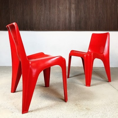 Set of 2 Model BA 1171 Bofinger Chairs by Helmut Bätzner, 1960s