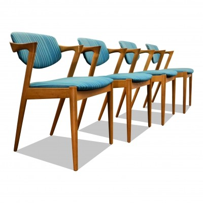 Vintage Danish design Kai Kristiansen Model 42 oak dining chairs