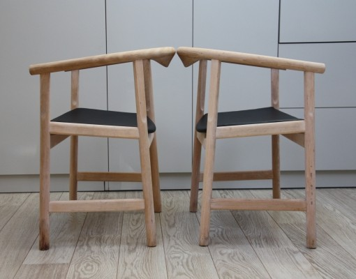Pair of vintage JH-203 arm chairs by Hans Wegner for Johannes Hansen, Denmark 1960's