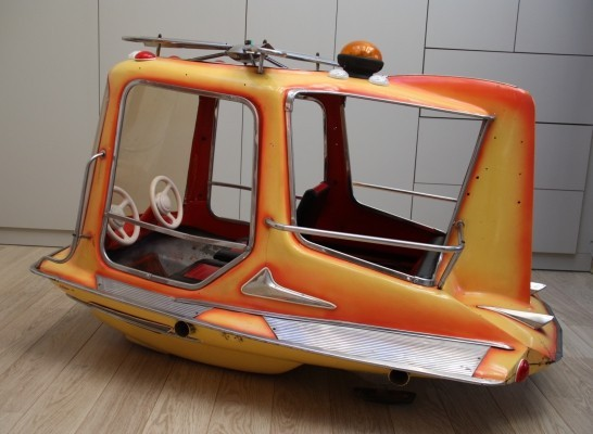 Vintage carousel helicopter with 4 seats, Belgium 1960's