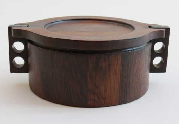 Danish Midcentury Rosewood Pot by Birgit Krogh for Woodline Denmark