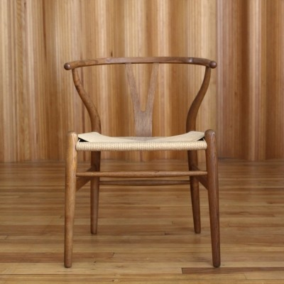 Hans Wegner oak ' CH24 wishbone' chair by Carl Hansen & Son, 1950