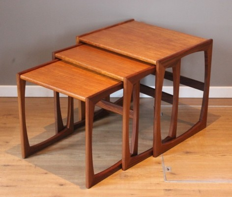 Set of 3 vintage teak 'Scandinavian style' nesting coffee tables by G-Plan, 1960s