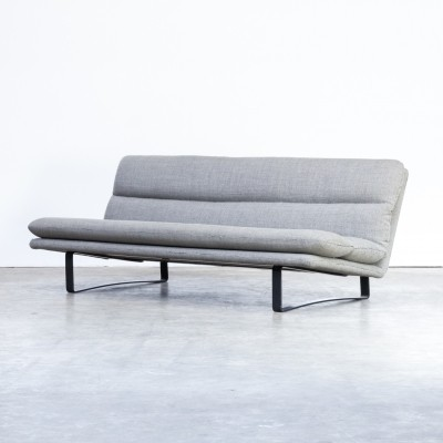 Kho Liang Ie C684 grey fabric three seat sofa for Artifort