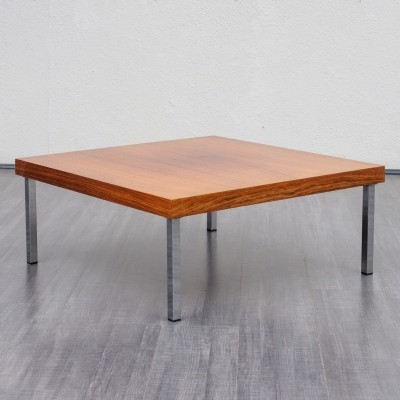 Cubic shaped 1960s coffee table in walnut