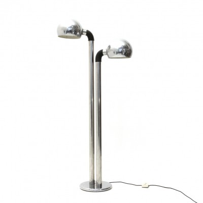 Italian chromed floor lamp, 1970s