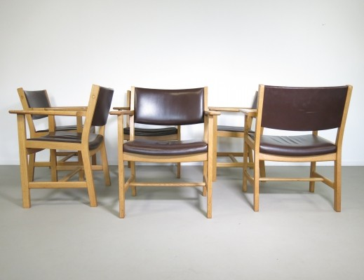 Set of 6 Model GE dinner chairs by Hans Wegner for Getama, 1960s