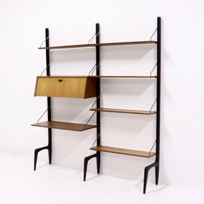 WeBe Teak Wall Unit by Louis van Teeffelen, 1950's