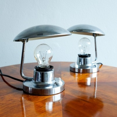 Pair of desk lamps by Josef Hůrka for Napako, 1970s