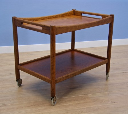 Danish bar cart / serving trolley by Hans Wegner for Andreas Tuck, 1960s