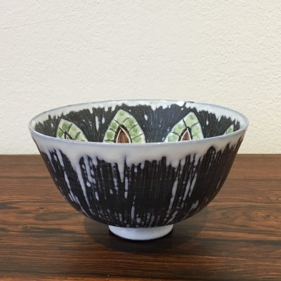 Handmade Swedish Ceramic Bowl by Alingsås Ceramic, 1960s