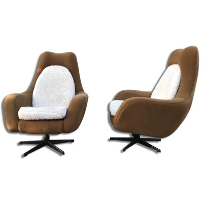 Pair of Vintage swivel armchairs, 1970s