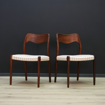 Pair of Niels O. Møller dining chairs, 1970s