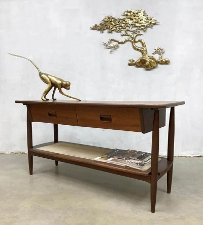 Danish midcentury modern console side table, 1960s