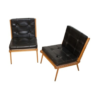 Pair of Mid-Century lounge chairs by Georges Tigien, France, 1960s