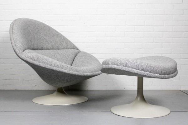 Original F553 chair by Pierre Paulin for Artifort (with matching ottoman), 1960s