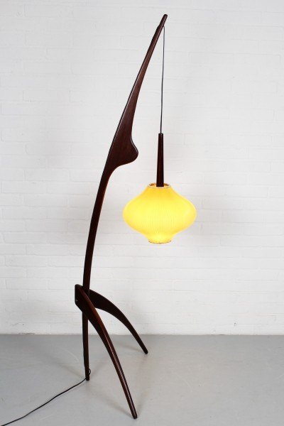 Praying Mantis Floor Lamp by Rispal, 1950s