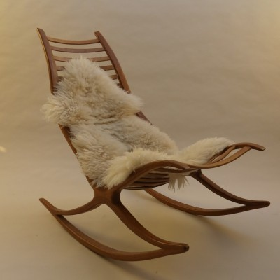1970s Wishbone Rocking Chair by Robin Williams