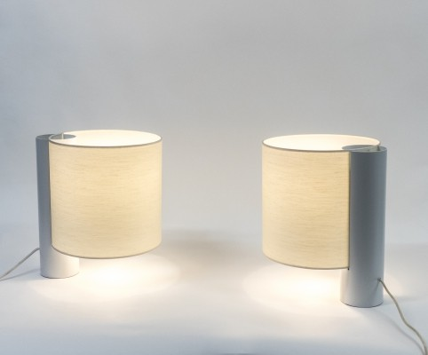 Pair of 'Flu' Table Lamps by Giuliana Gramigna for Quattrifolio, 1976
