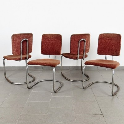 Set of 4 dining chairs by Anton Lorenz for Robert Slezák, 1930s