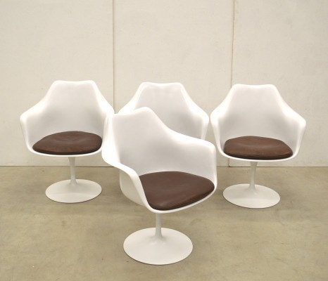 4 x Tulip dinner chair by Eero Saarinen for Knoll, 1970s