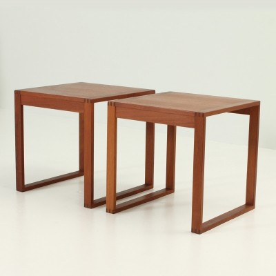 Pair of Side Tables by Torben Lind & Ole Gjerløv-Knudsen