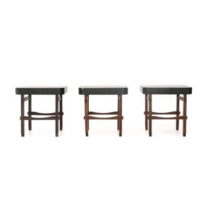 Set of 3 Italian mid-century stool, 1960s